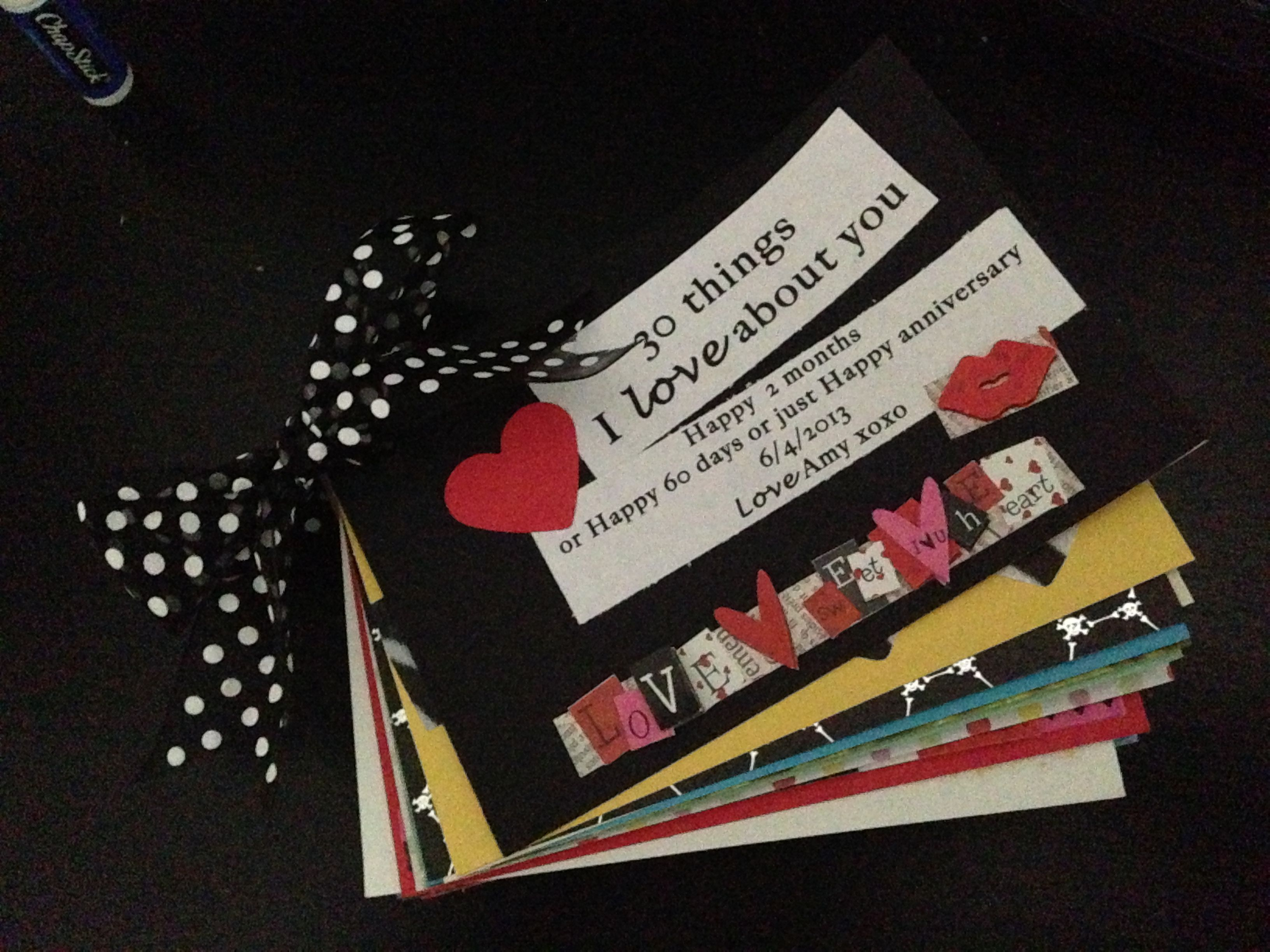 Book I made for my boyfriend #diy #boyfriend #homemadegift #30reasonsiloveyou