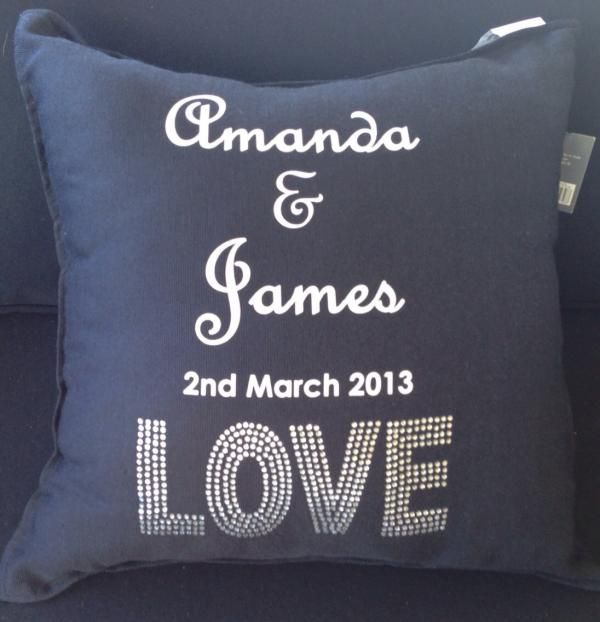 Divine Wedding Flowers: Personalised LOVE Wedding Cushions From How Divine