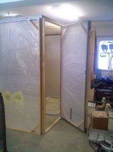 Homemade Collapsible Paint Booth Diy Paint Booth Paint Booth Spray Paint Booth