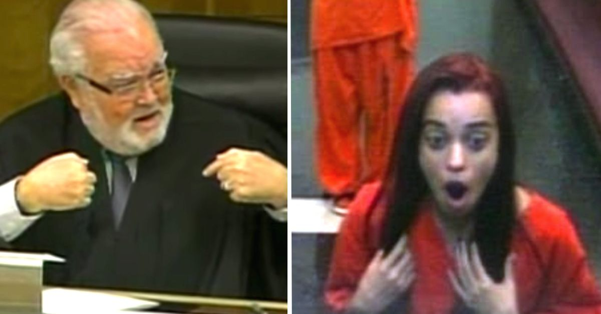 Judge Flips Out When Rude Teenager Gives Him The Middle Finger In The Courtroom -      A  n 18-year-old Miami woman named Penelope Soto found herself in  very  hot water when she decided to mouth-off to a judge during her sentencing...