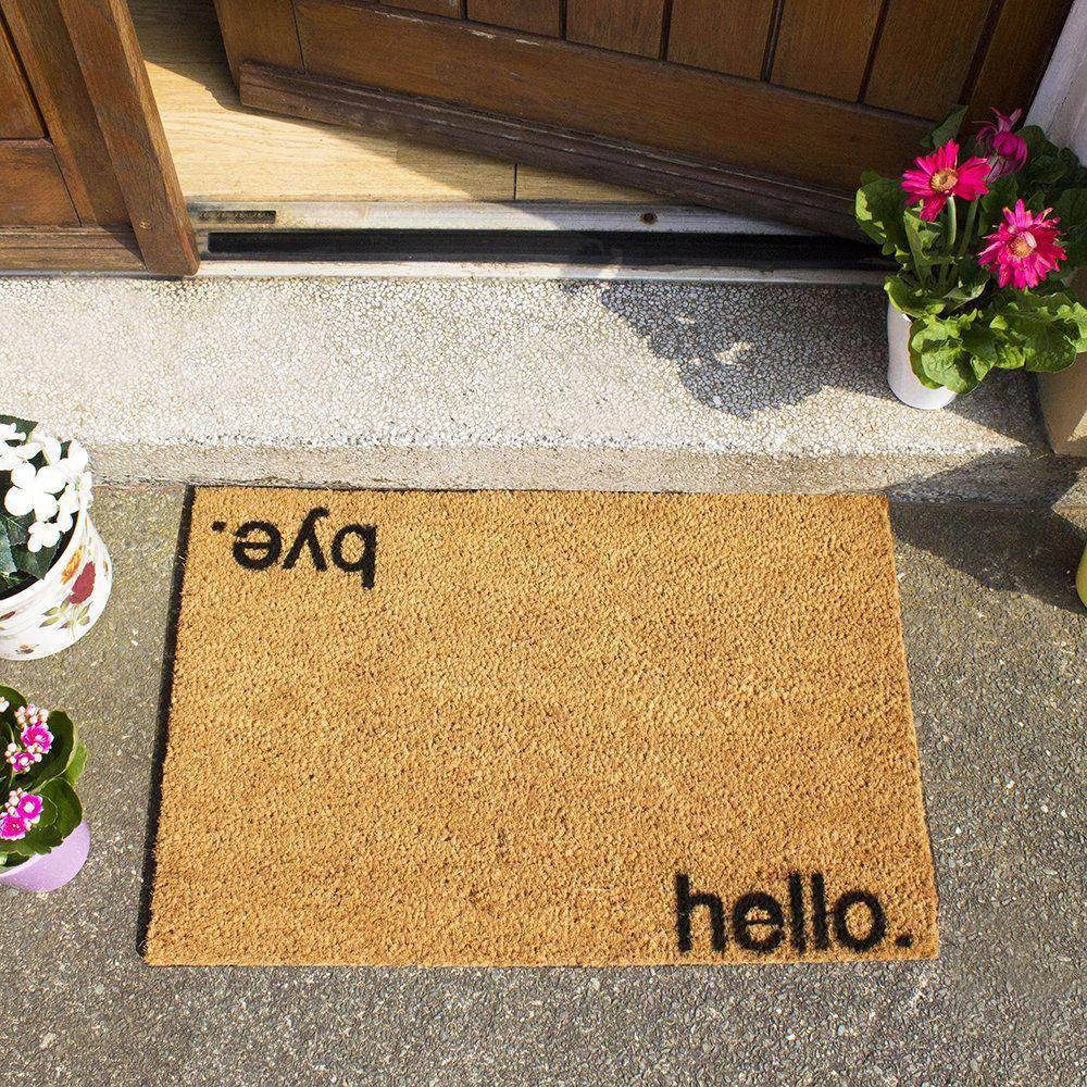 Artsy Doormats Hello Bye Fussmatte Kaufen Amara Quirkyhomedecor In 2020 Door Mat Quirky Home Decor Cool Doormats