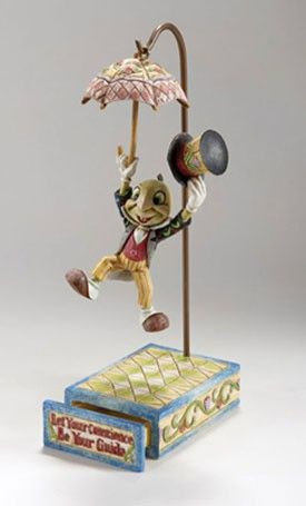 Jim Shore S Enesco Disney Traditions Jiminy Cricket Let Your Conscience Be Your Guide With Images Disney Traditions Disney Collectables Jiminy Cricket