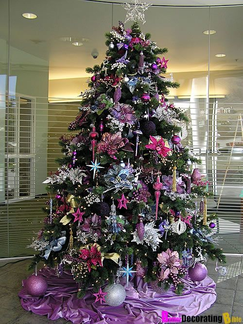Árbol de Navidad: Tendencia Purpura