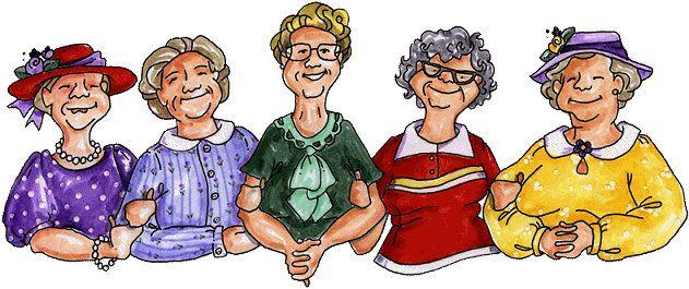 Image result for Humorous Church Ladies Illustration