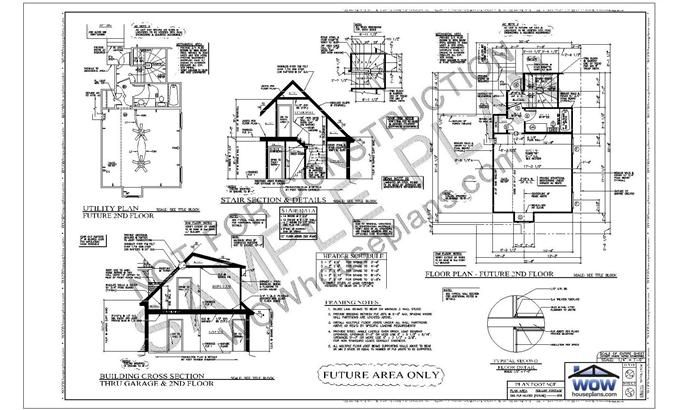 Sheet 2 typically includes the second story floor plan and