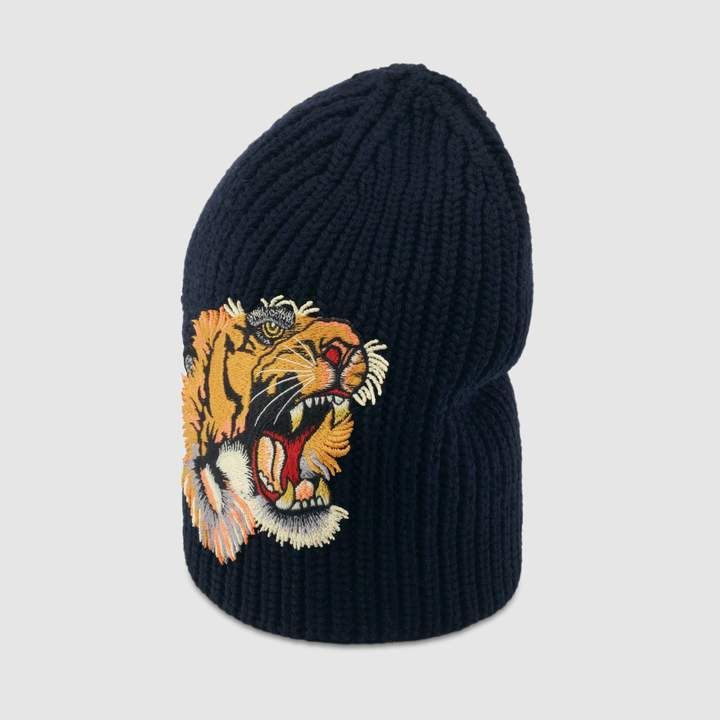 Gucci Wool hat with tiger  cdfa0115aab