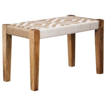 Awesome Woven Cotton Jute Bench Target Furniture Inspiration Machost Co Dining Chair Design Ideas Machostcouk