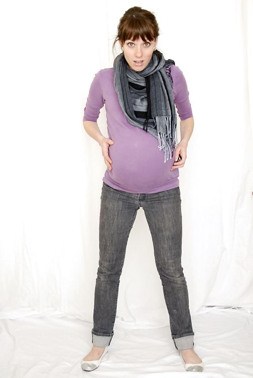 Purple and Grey maternity outfit (I made a point to not wear any maternity clothes through my entire pregnancy, this is my documentation of those outfits)