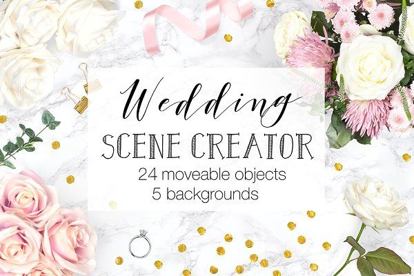 A Beautiful Wedding Themed Scene Creator With Moveable Objects And Changeable Backgrounds This Top View