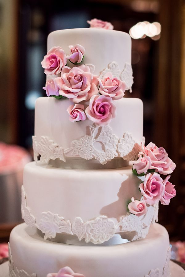 Glamorous Miami Wedding from Ricky Stern - wedding cake idea
