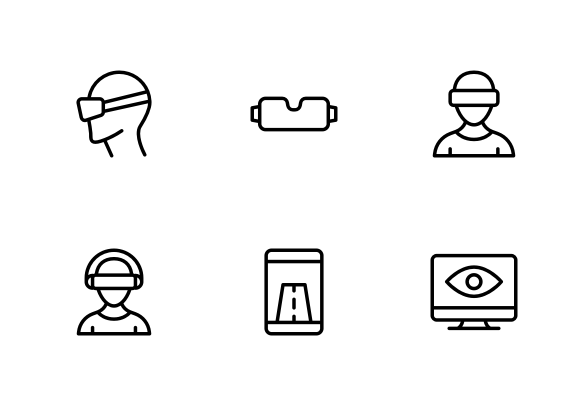 Virtual Reality And Drones Icons By Creative Hive Virtual Reality Icon Business Icons Design