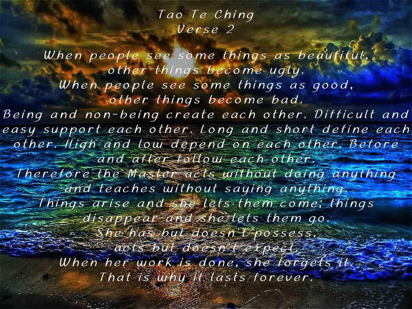 tao te ching verse tao tao te ching verses and  tao te ching verse 2