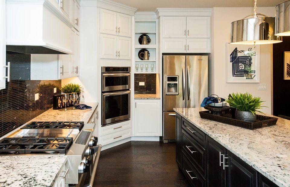Traditional Kitchen With Blizzard Granite Countertop Complex