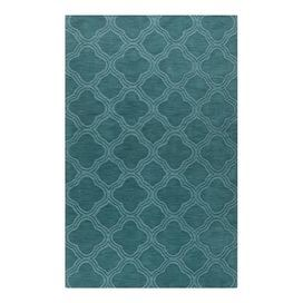 Refresh your well-dressed home for summer with this eye-catching essential, offering style and flair for enviable appeal.  Product: RugConstruction Material: 100% WoolColor: Teal greenFeatures:  HandcraftedMade in India Dimensions: 5 x 8Note: Please be aware that actual colors may vary from those shown on your screen. Accent rugs may also not show the entire pattern that the corresponding area rugs have.Cleaning and Care: Blot stains