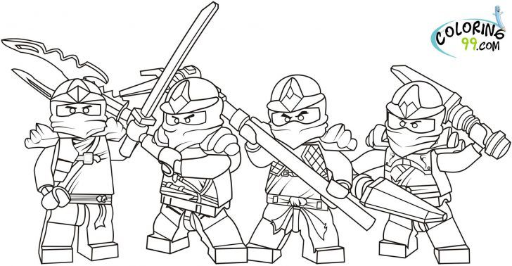 Lego Coloring Pages Ninjago Fantasi