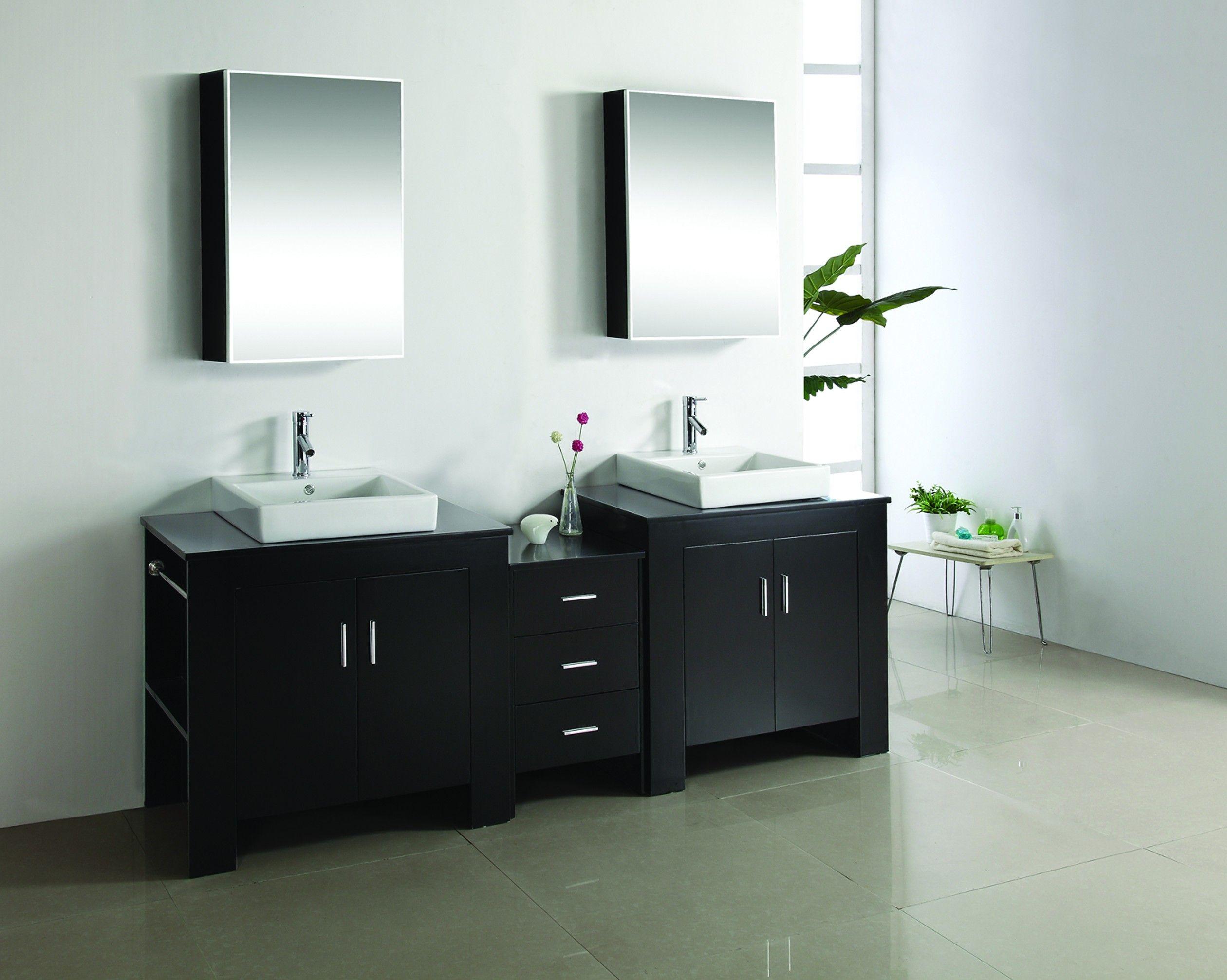 Virtu Usa 90 Tavian Espresso Double Sink Bathroom Vanity Vanity Double Vanity Bathroom Bathroom Vanity [ 2014 x 2520 Pixel ]