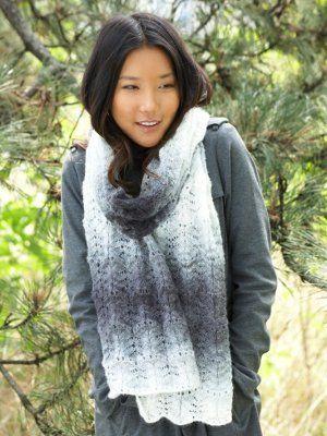 Lacy Ripple Scarf | Schal stricken, Schals und Tücher