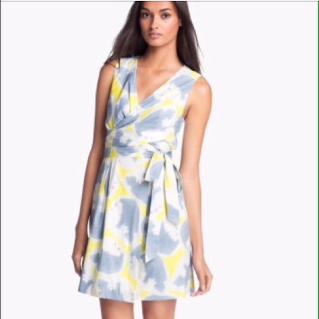 Dvf carol mini acid water yellow print wrap dress products