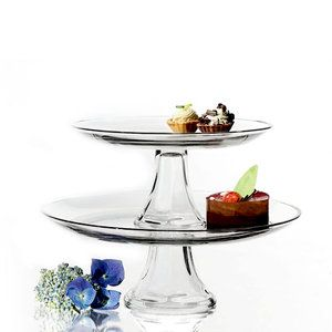 Anchor Hocking Presence Glass 3 Tier Cake Stand Set Walmart Com Platter Set Cake Stand Set Platters