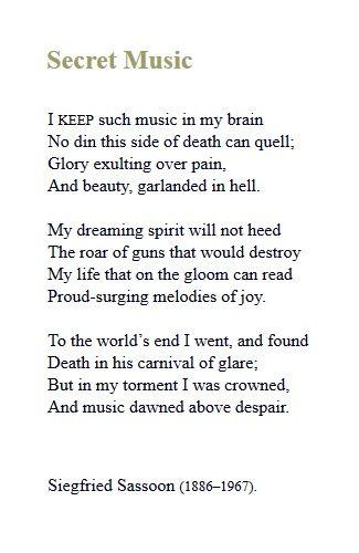 Secret Music - Siegfried Sassoon | Deep Dyslexia | Poetry, Poems