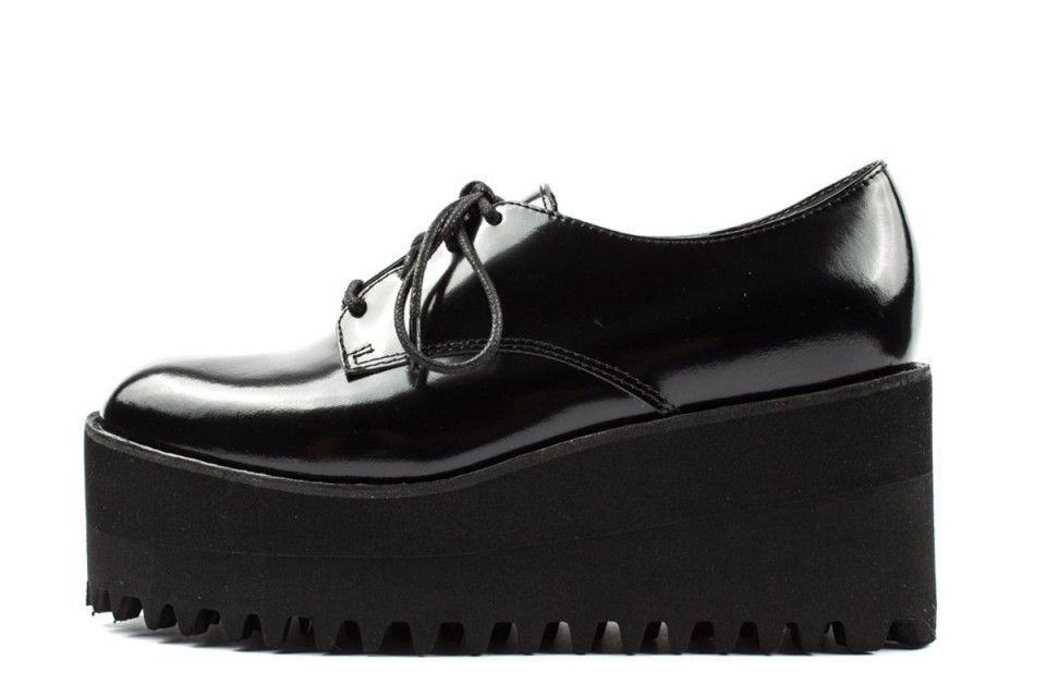 premium selection d1608 ec078 Jeffrey Campbell Pistol scarpe stringate con plateau ...