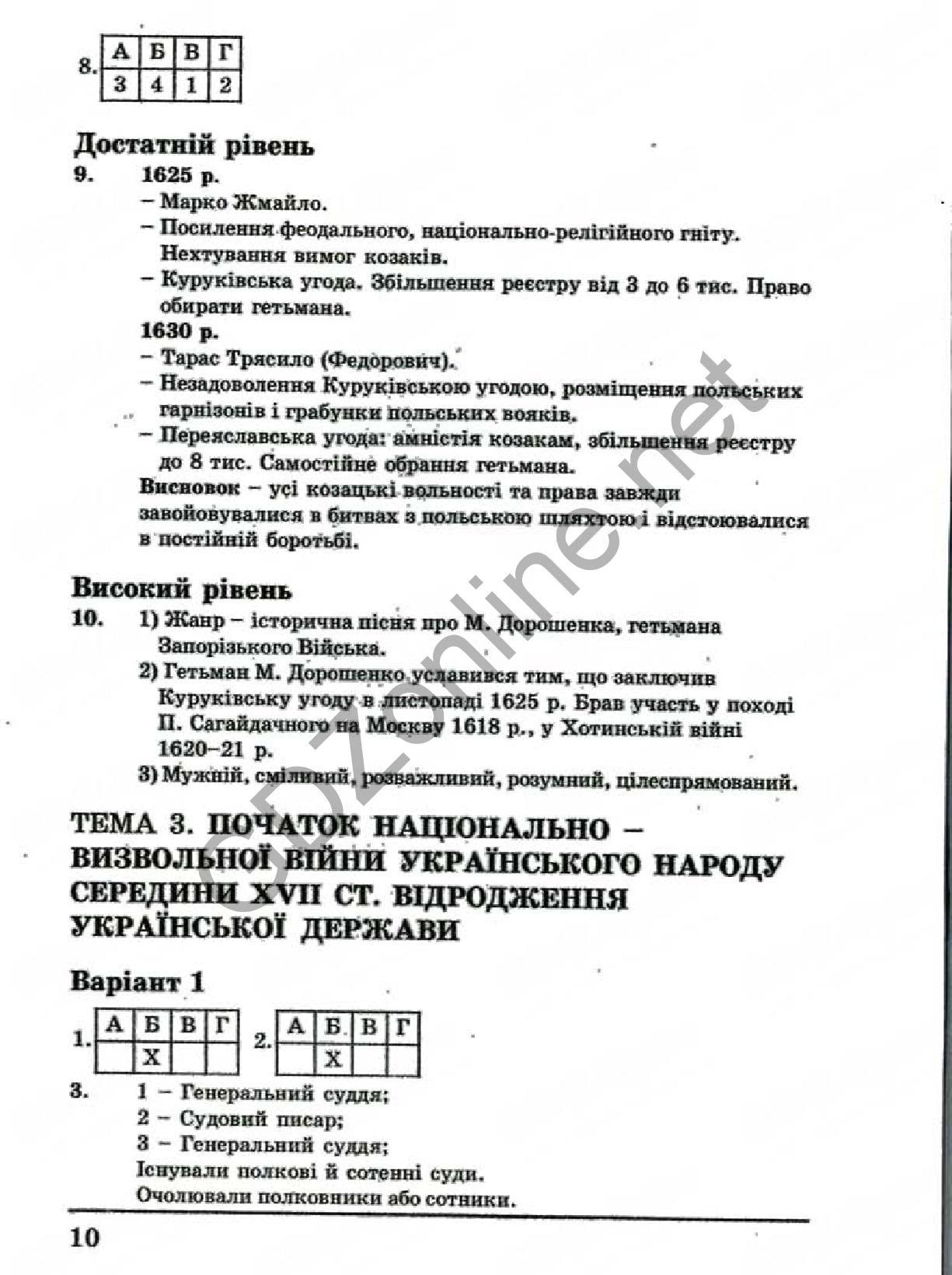 Ответы история украины 11 класс тетрадь для контроля знаний
