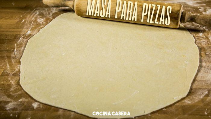 Masa De Pizza Fina Y Crujiente Receta Masa Para Pizza Pizza Casera Masa De Pizza Casera