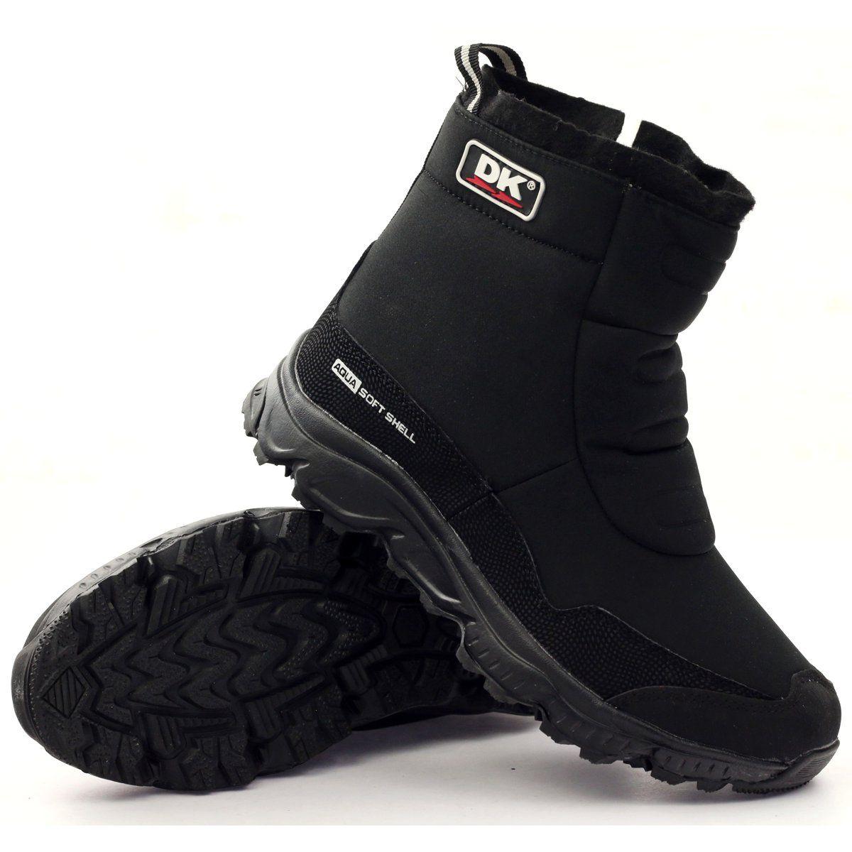 Trzewiki Z Membrana Ocieplone Futrem Dk Czarne Rain Boots Hunter Boots Boots