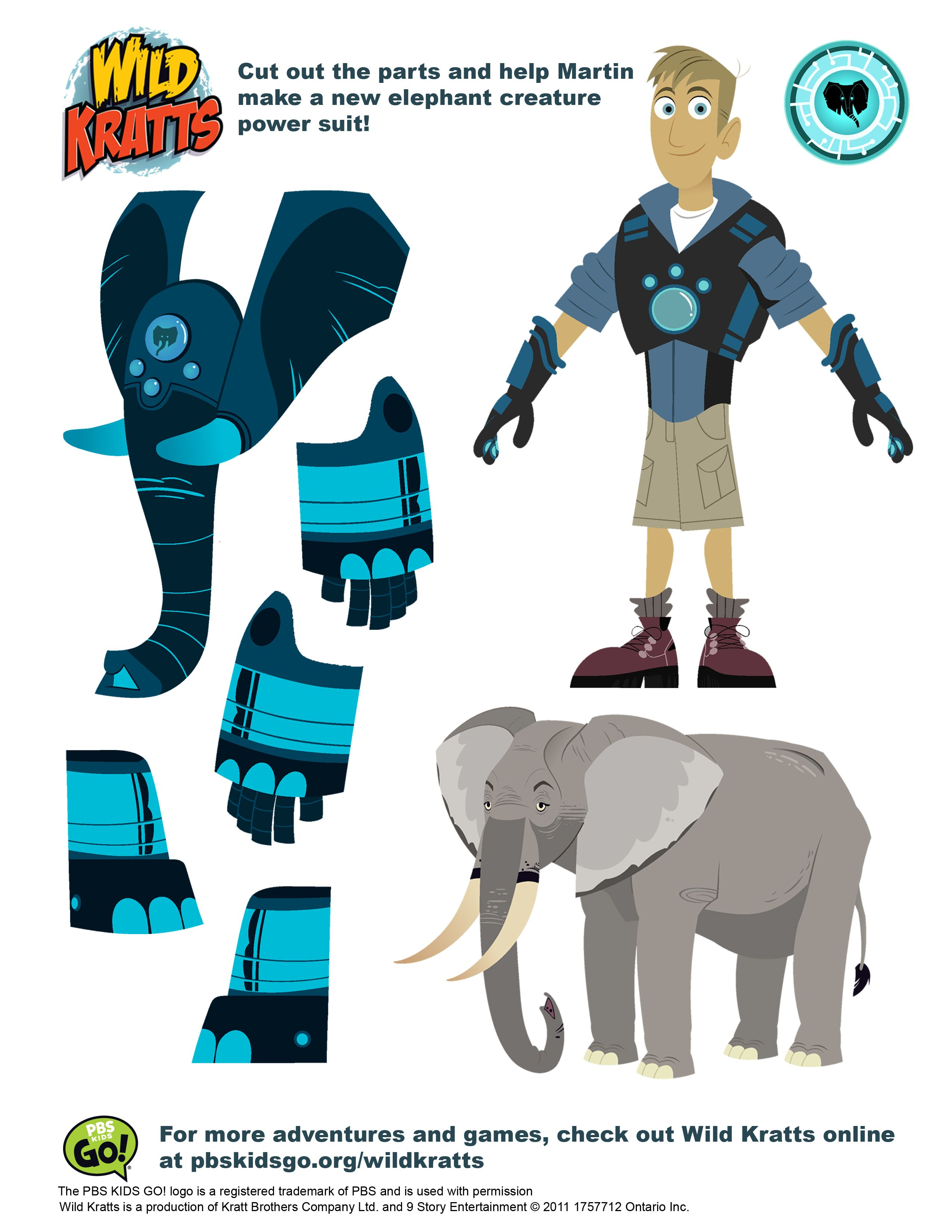 Printables Pbs Kids Programs Wild Kratts Birthdays And