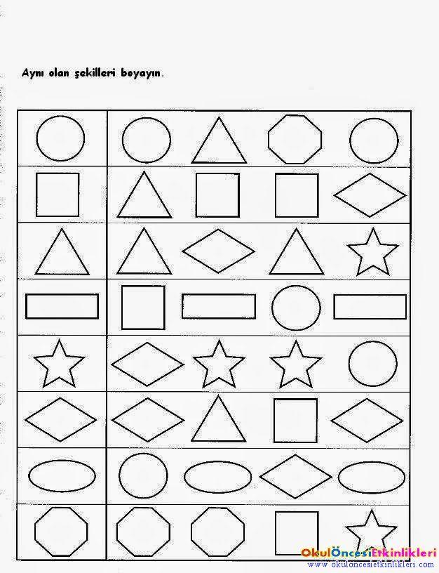Boyama Etkinligi Boyama Sayfasi Etkinlikleri Boyama Sayfalari Geometri Faaliyetler
