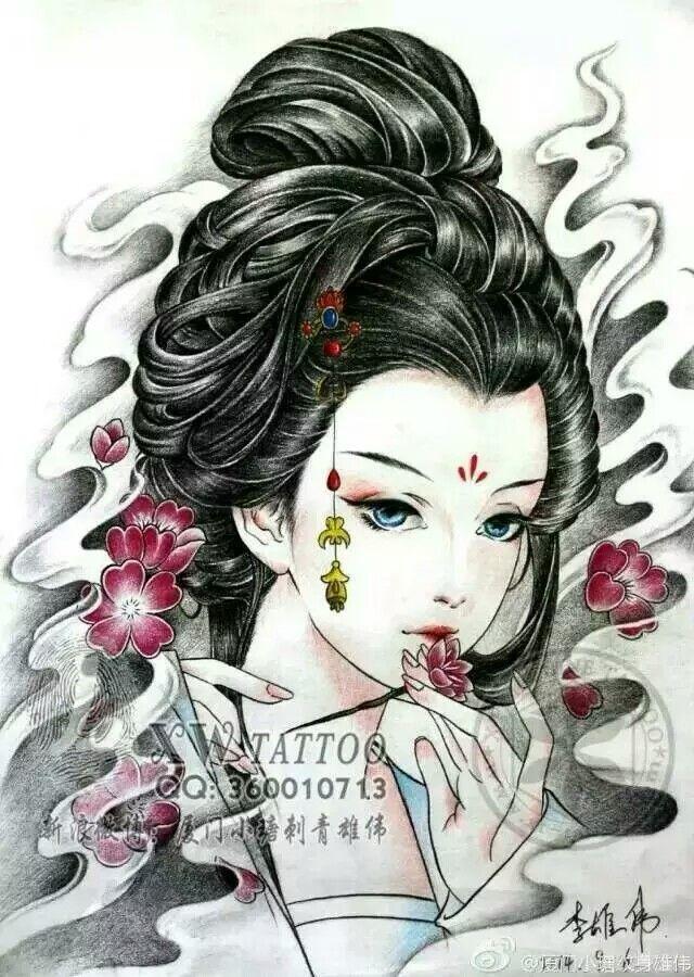 Ghim của 新疆手艺娃刺青 trên 图稿 Hình xăm chân dung, Ý tưởng