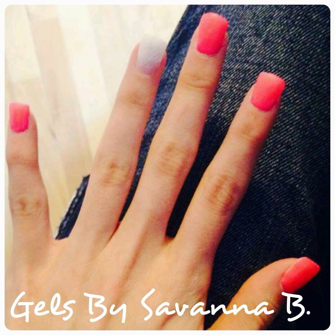 Summer set!!!! Artificial gel nails with Neon pink with accent white ...