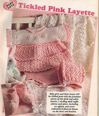 Crochet Patterns Baby Dress Layette Afghans Sweater Doily Backpack