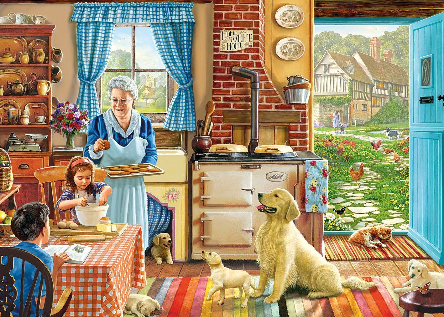 Home sweet home painting - Gibsons Home Sweet Home Jigsaw Puzzle 1000 Pieces Amazon Co Uk