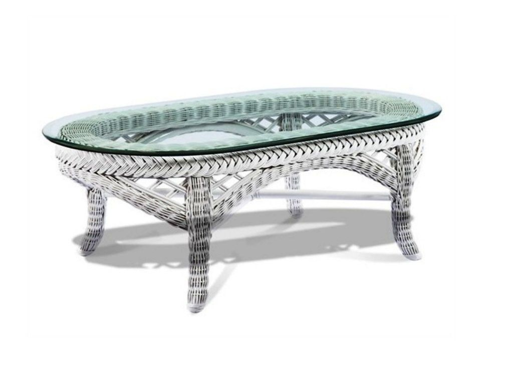 13 White Wicker Coffee Table Glass Top Pictures
