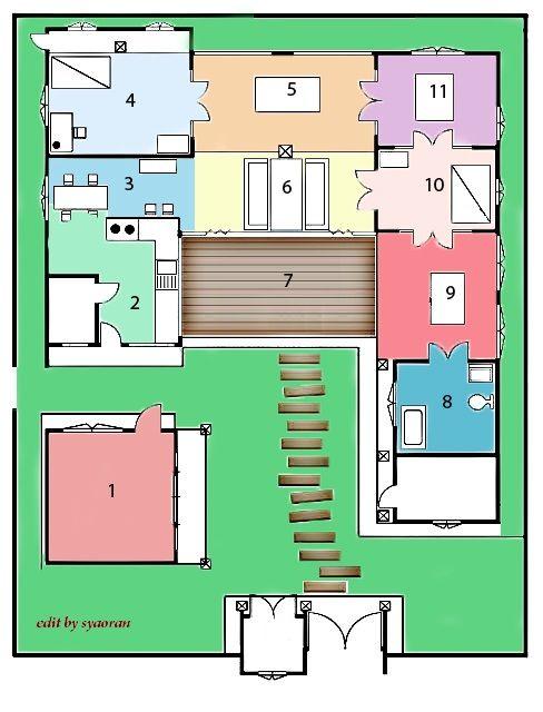 Sarang Sang Go Jae Korean traditional house plan