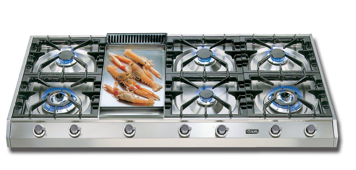 Ilve 48 Gas Cooktop With 7 Burners Reviews Wayfair Gas Cooktop Cooktop Ilve