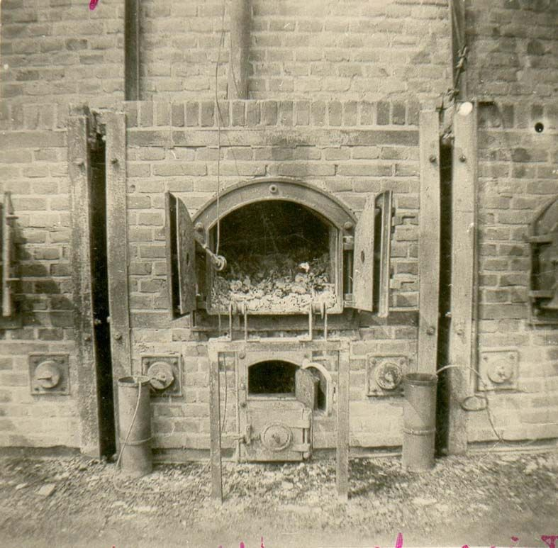 A furnace shown after Liberation.