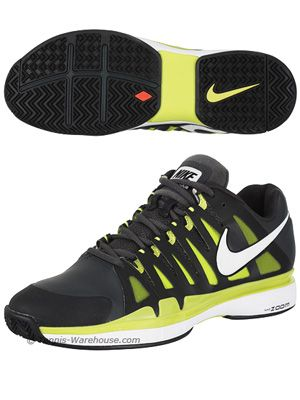Roger Federer S Clay Court Shoe Nike Vapor 9 Tour Sl Anthracite Cyber Men S Shoe Tennis Nike Vapor Nike Court Shoes