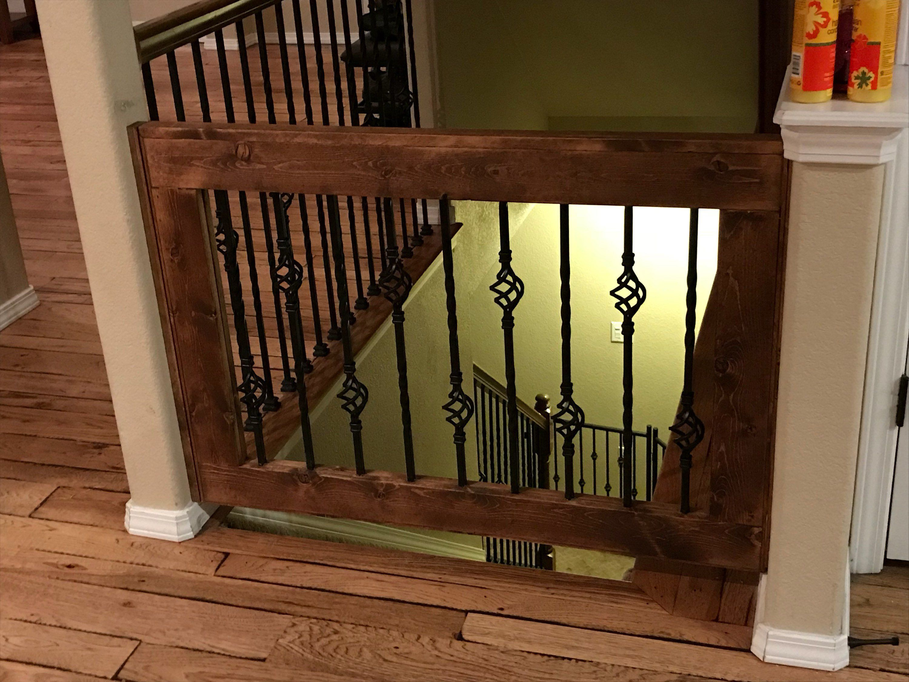 Custom Wrought Iron Baby Pet Gate Etsy Diy Baby Gate Stair