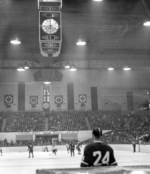 A photo of the Maple Leaf Gardens scoreboard taken Jan. 19, 1964. (Michael  Burns)