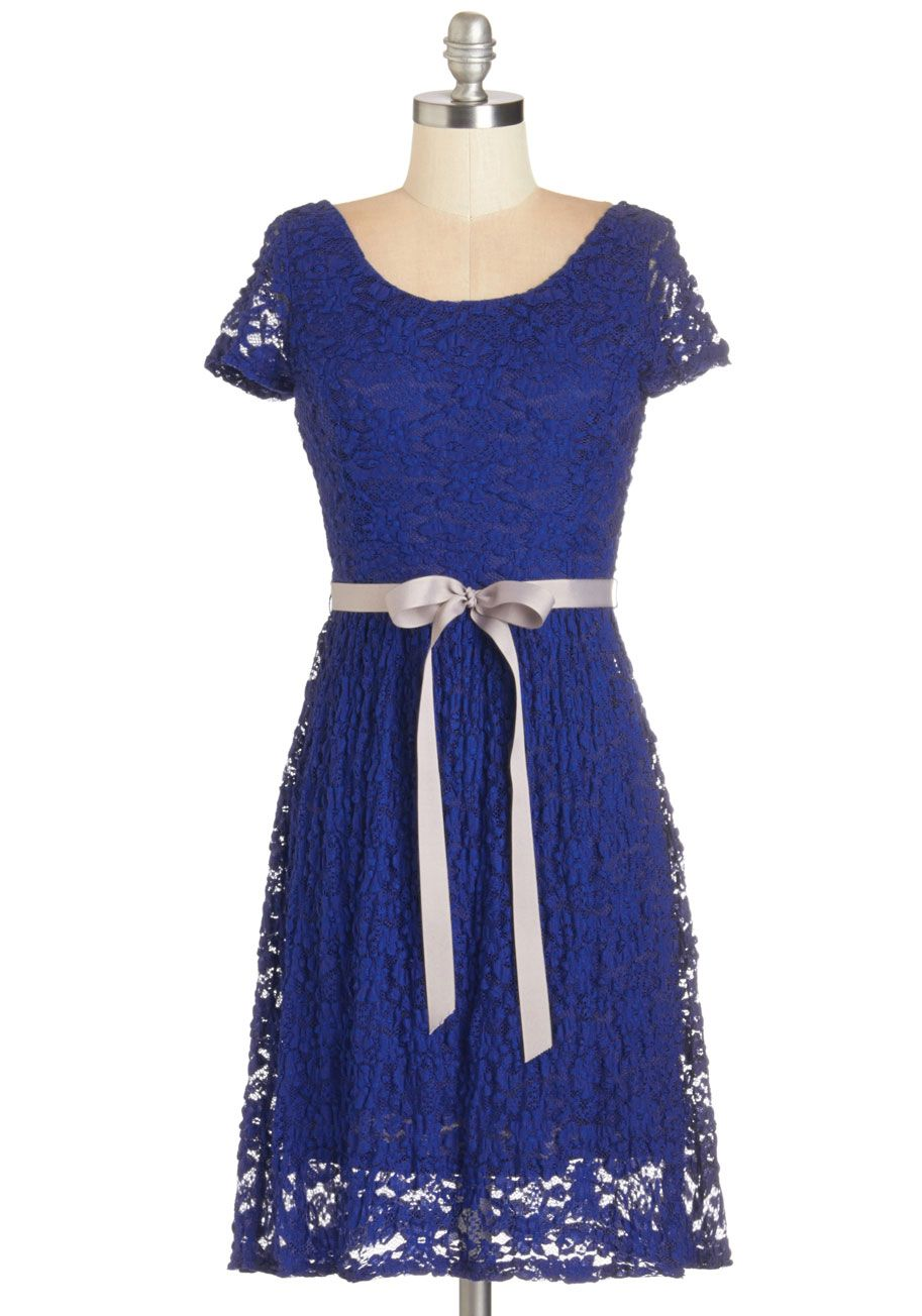 Coque madame dress blue belted wedding party bridesmaid a