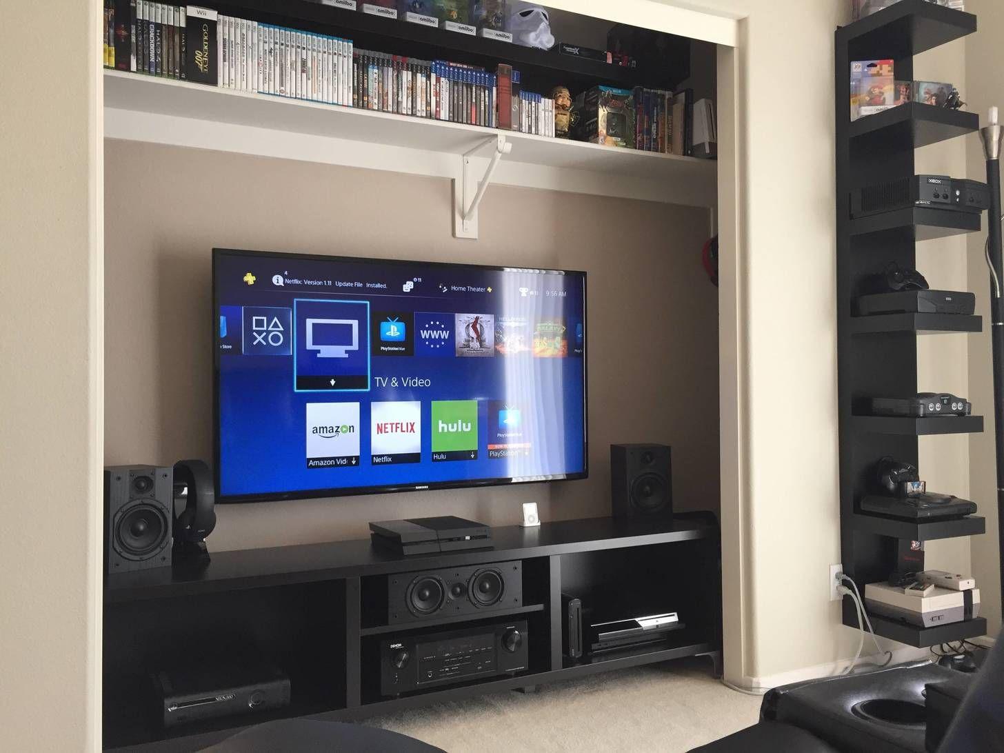 closet theater pinterest album gaming setup and men cave. Black Bedroom Furniture Sets. Home Design Ideas