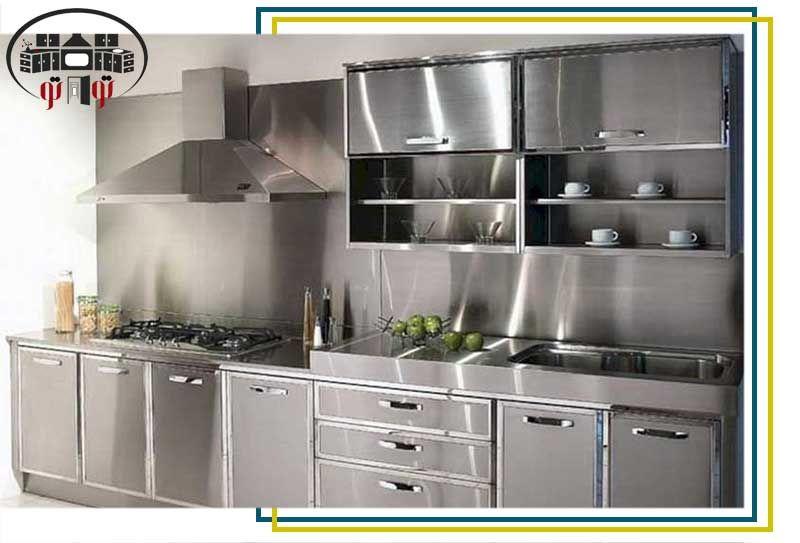 انواع کابینت آشپزخانه With Images Aluminum Kitchen Cabinets Steel Kitchen Cabinets Aluminium Kitchen