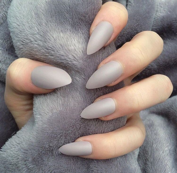 Expensivetastexox Light Gray Nails Gray Nails Fake Nails