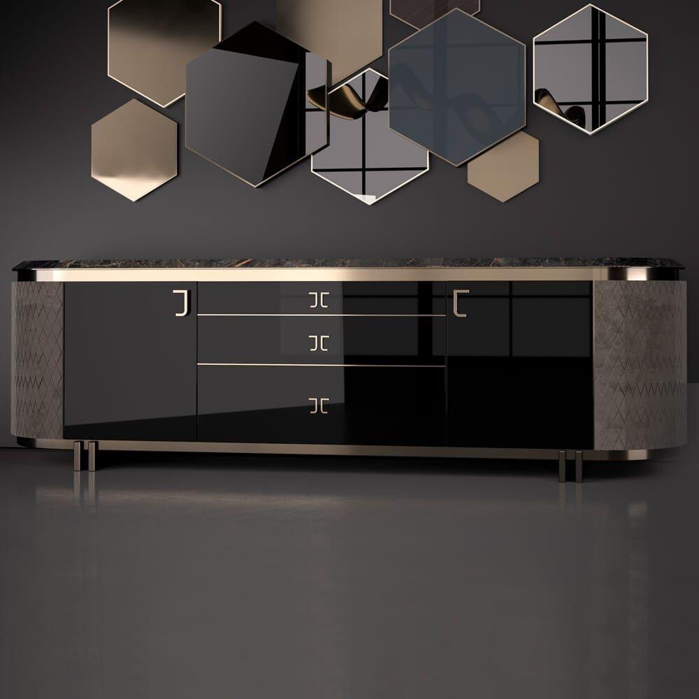 Exclusive Italian Luxury Designer Nubuck And Lacquered Buffet Juliettes Interiors Luxury Sideboard Luxury Design Luxury Furniture