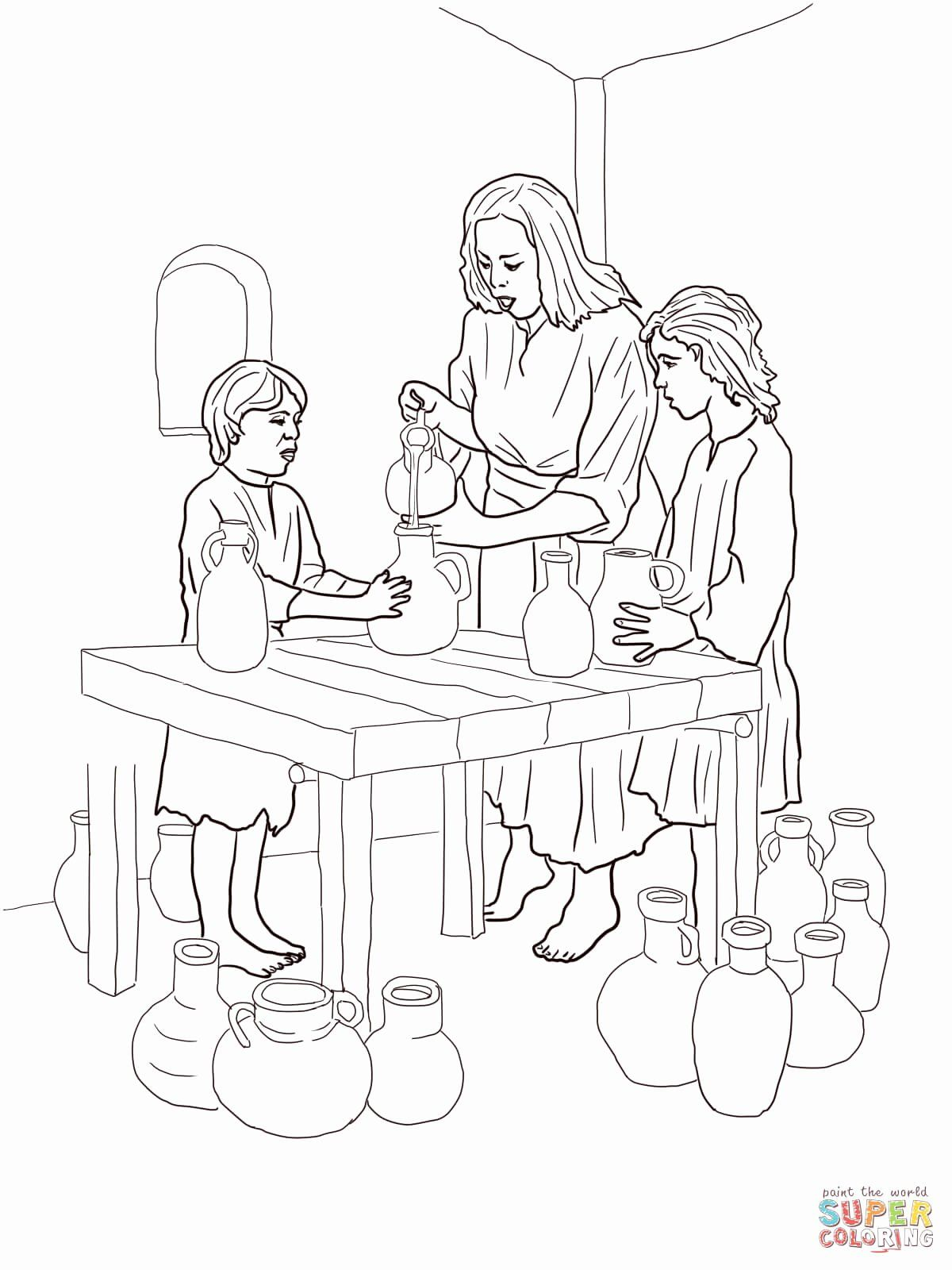 Elijah And The Widow Coloring Page Fresh Elijah And Widow Coloring