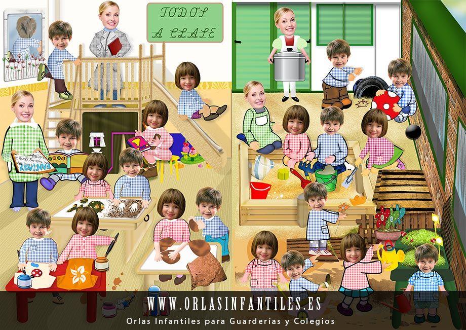 Orla Infantil Clase Y Patio Orla Infantil Actividades Infantiles Arte Preescolar