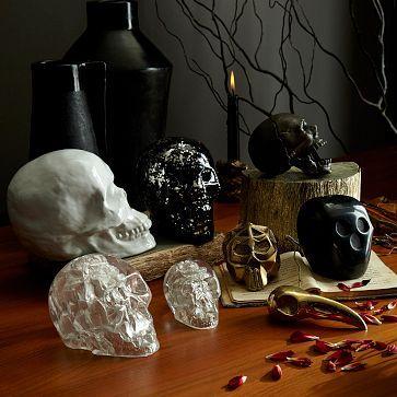 Skull Sculptures #westelm #Halloween #decor Halloween Home Decor - halloween decor images