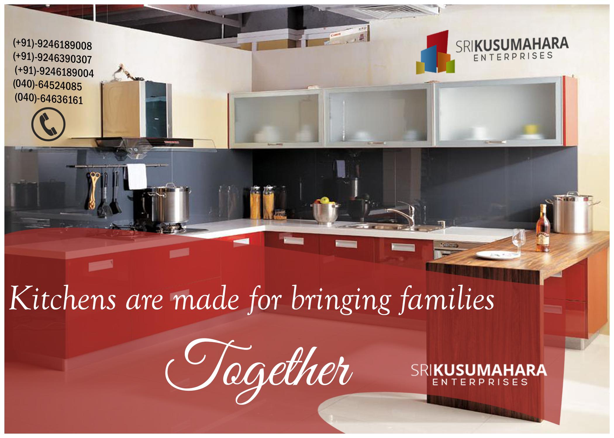 Srikusumahara kitchens are made for bringing families together